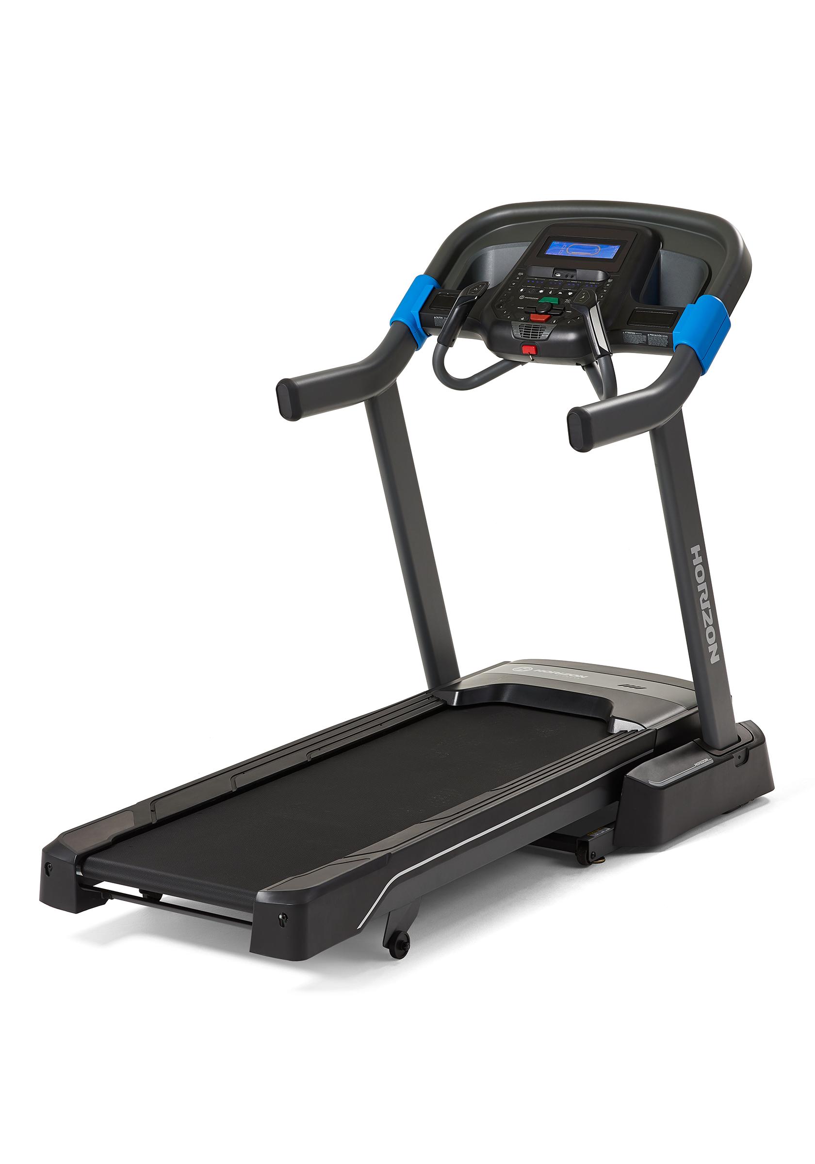 Horizon Treadmill 7.0A - Black/blue