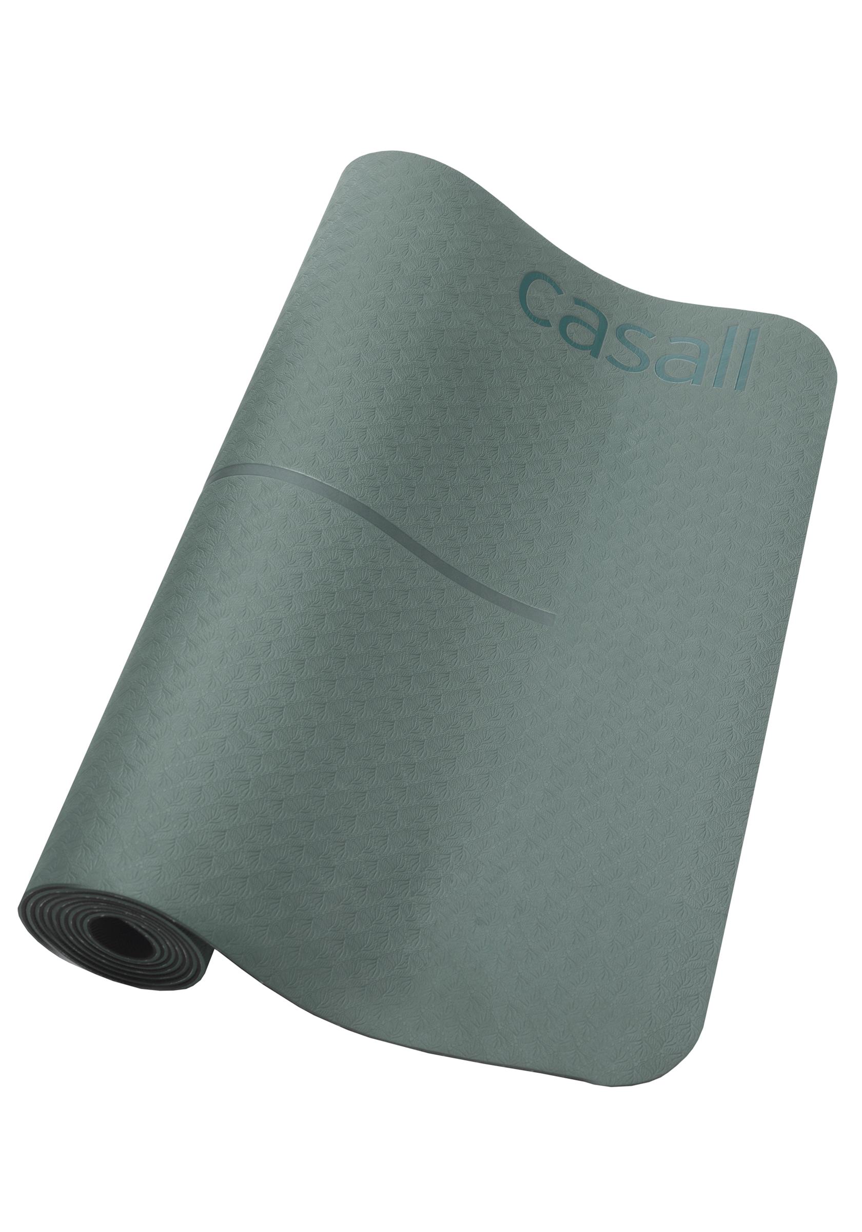Yoga mat position 4mm - Khaki green/black